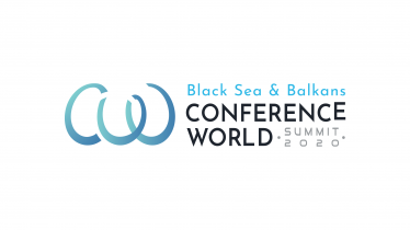 black sea & balkans conference world - logo design 2-01